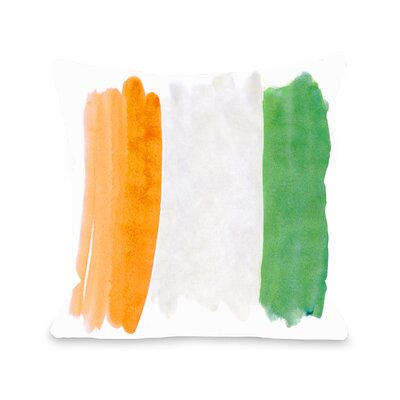 Lillie Eat Drink Be Irish Flag Throw Pillow Size: 18 H x 18 W x 3 D