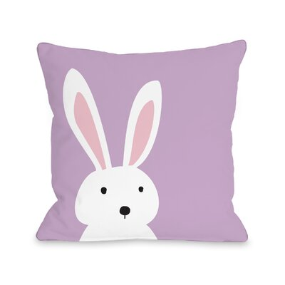 Cary Bunny Ears Reversible Throw Pillow Size: 18 H x 18 W x 3 D
