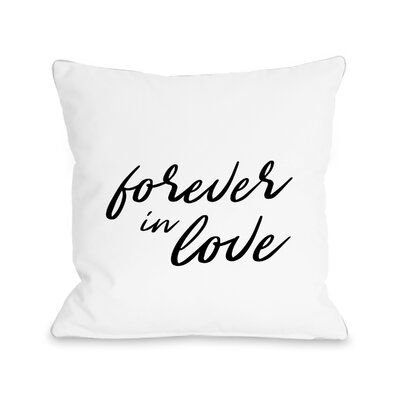 Mildred Forever in Love Throw Pillow Size: 16 H x 16 W x 3 D