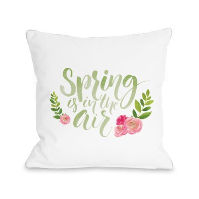 Jamestown Spring Is in the Air Throw Pillow Size: 18 H x 18 W x 3 D