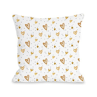 Clarkton Hearts Throw Pillow Size: 18 H x 18 W x 3 D