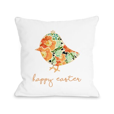 Floral Chick Throw Pillow Size: 16 H x 16 W x 3 D
