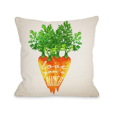 Barnegat Love You a Bunch Throw Pillow Size: 16 H x 16 W x 3 D