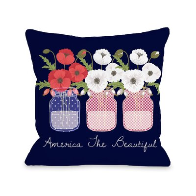 Jian America the Beautiful Love You Throw Pillow Size: 18 H x 18 W x 3 D