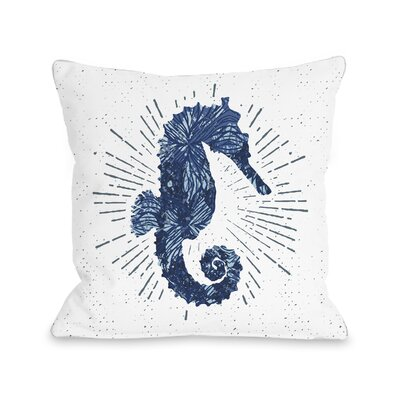 Holmgren Seahorse Bursts Outdoor Throw Pillow Size: 18 x 18