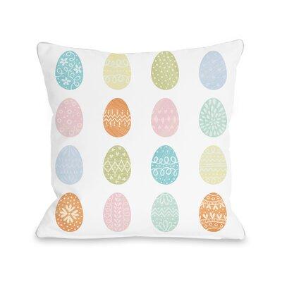 Egg Hunt Throw Pillow Size: 18 H x 18 W x 3 D