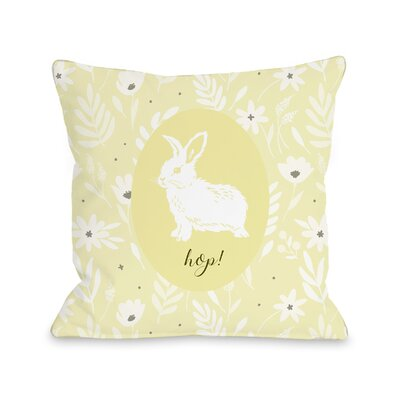Colerain Hop Floral Throw Pillow Size: 16 H x 16 W x 3 D