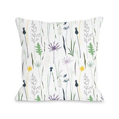 Brener Wildflower Throw Pillow Size: 16 H x 16 W x 3 D