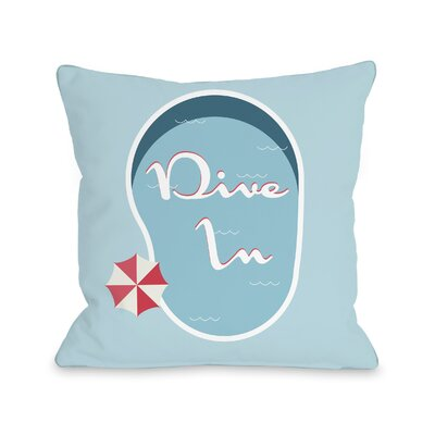 Bruce Dive in Throw Pillow Size: 18 H x 18 W x 3 D