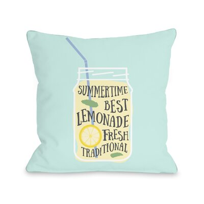 Charleen Summertime Lemonade Throw Pillow Size: 16 H x 16 W x 3 D
