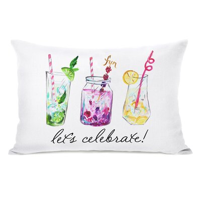 Brookman Lets Celebrate Drinks Lumbar Pillow