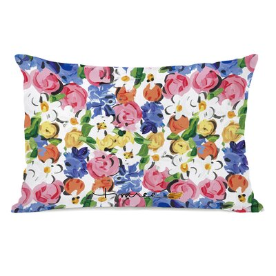 Wagner Hello Spring Floral Letters Lumbar Pillow