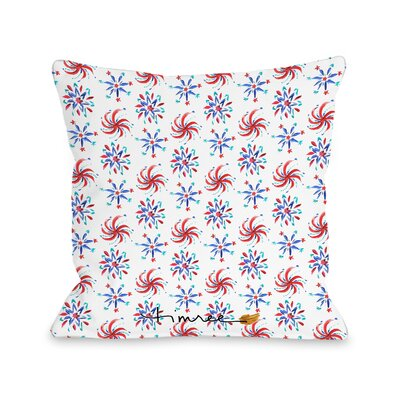 Fireworks Throw Pillow Size: 18 H x 18 W x 3 D
