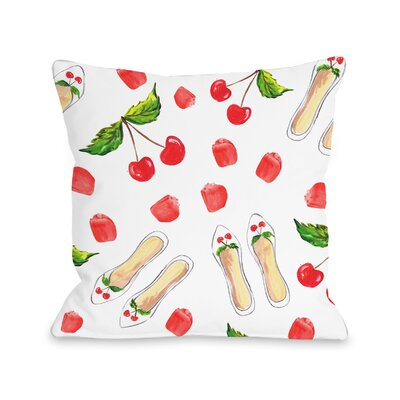 Bruhn Cherry Flats Throw Pillow Size: 16 H x 16 W x 3 D