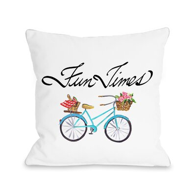 Daniels Fun Times Bike Throw Pillow Size: 16 H x 16 W x 3 D
