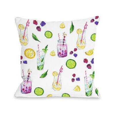 Broken Hill Summer Refreshments Throw Pillow Size: 18 H x 18 W x 3 D