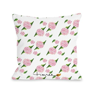 Bonnyrigg Beautiful Blooms Perfume Throw Pillow Size: 16 H x 16 W x 3 D