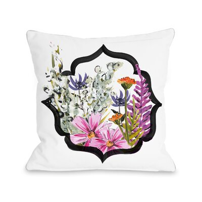 Mendoza Framed Florals Throw Pillow Size: 16 H x 16 W x 3 D
