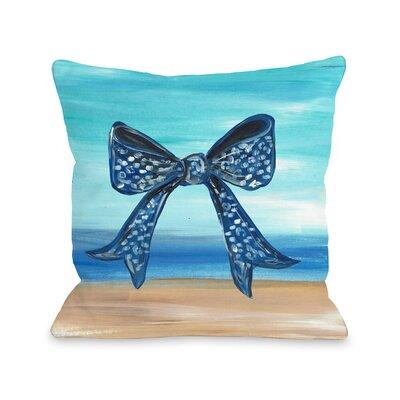 Britten Beach Bow Throw Pillow Size: 16