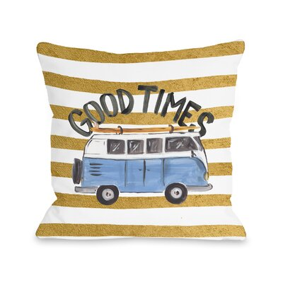 Stephens Good Times Bus Throw Pillow Size: 16 H x 16 W x 3 D