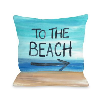 Louisa To The Beach Throw Pillow Size: 18 H x 18 W x 3 D
