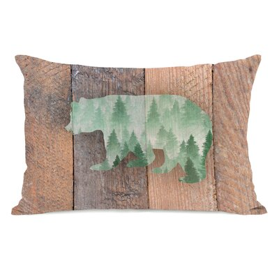 Jamila Mountain Bear Lumbar Pillow