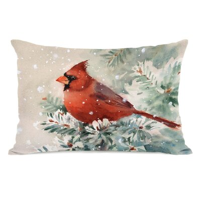 Christmas Cardinal Lumbar Pillow