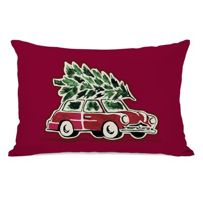 Christmas Tree Buggie Lumbar Pillow