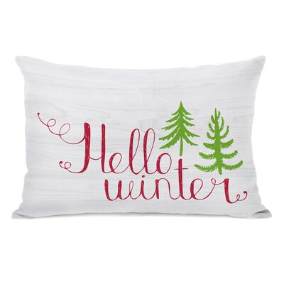 Hello Winter Trees Lumbar Pillow
