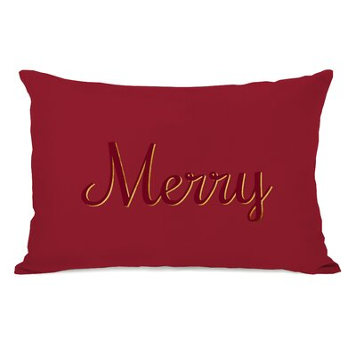Merry Script Lumbar Pillow