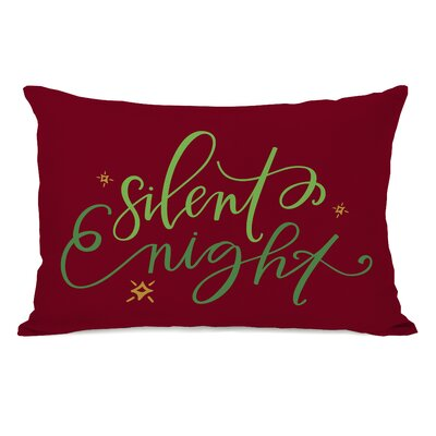 Silent Night Script Lumbar Pillow