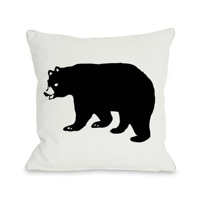 Hector Scary Bear Throw Pillow Size: 16 x 16