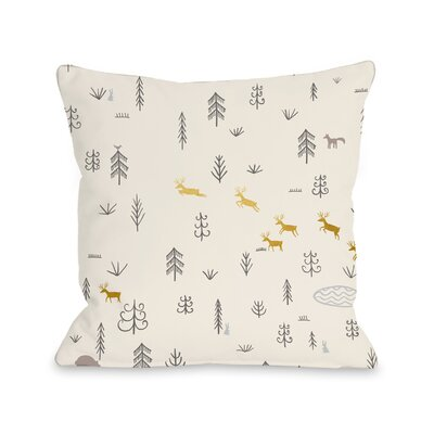 Veazey Woodland Throw Pillow Size: 16 x 16