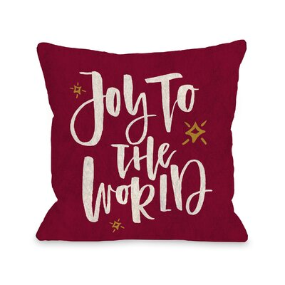 Joy to the World Stars Throw Pillow Size: 18 x 18
