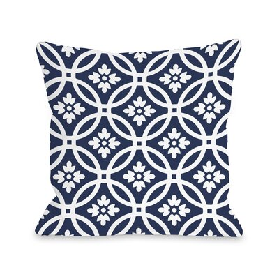 Meredith Circles Throw Pillow Size: 20 x 20, Color: Navy