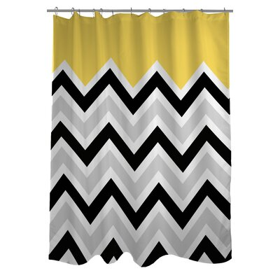 Chevron Solid Shower Curtain Color: Yellow