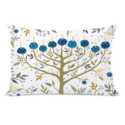 Menorah Lumbar Pillow Color: Yellow