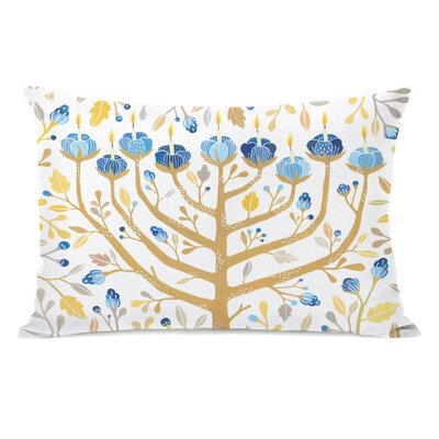 Menorah Lumbar Pillow Color: Gold