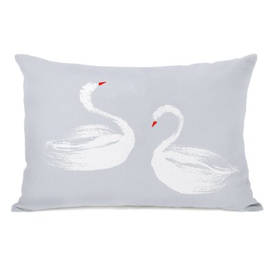 Swan Dance Lumbar Pillow