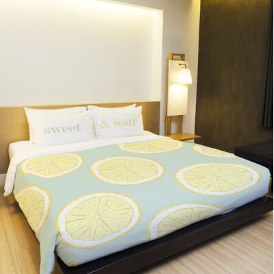 Harpster Citrus Twist Lightweight Duvet Cover Size: King