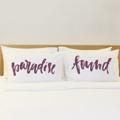 Olivia Paradise Found 2 Piece Pillow Case Set