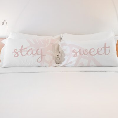 Holly Stay Sweet 2 Piece Pillow Case Set