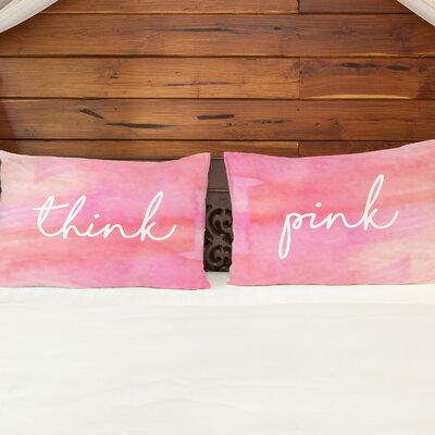 Montego Think Pink 2 Piece Pillow Case Set