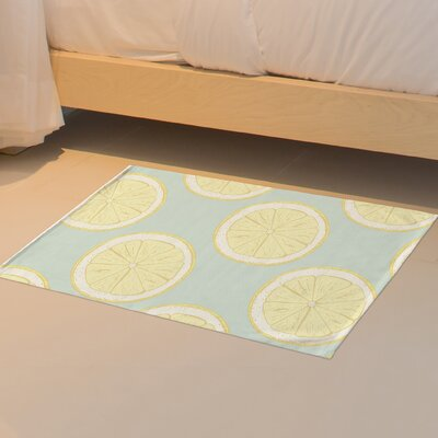 Harner Citrus Twist Floor Blue Area Rug