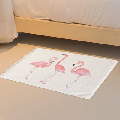 Floral Flamingo Friends Floor Pink Area Rug