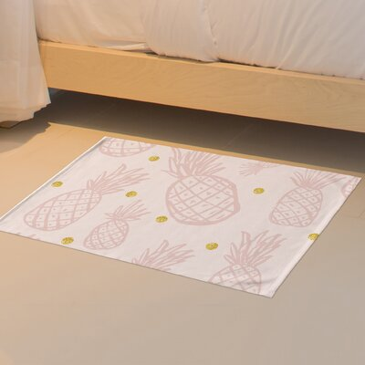 Pineapple Floor Pink Area Rug