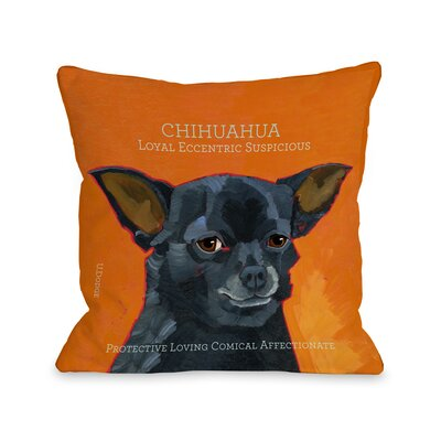 Doggy D�cor Chihuahua3 Pillow Size: 18 H x 18 W