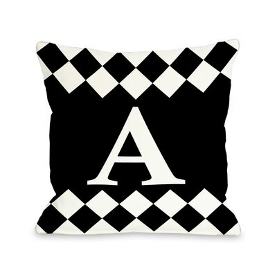 Check Monogram Pillow