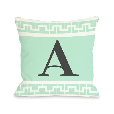 Greek Monogram Pillow