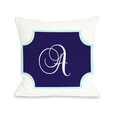 Poly Monogram Pillow